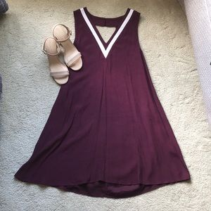 Forever 21 maroon dress with back neckline cutout